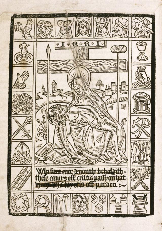 Fig. 12: English Pieta woodcut, ca. 1500-10 (Bodelian Library, UK)