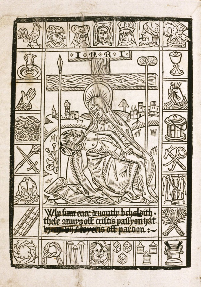 Fig. 12: English Pieta woodcut, ca. 1500-10 (Bodelian Library, UK)