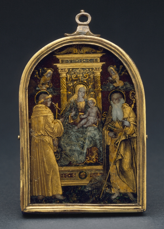 Fig. 04: Sacred Conversation reverse gilt and painted rock crystal (LACMA)