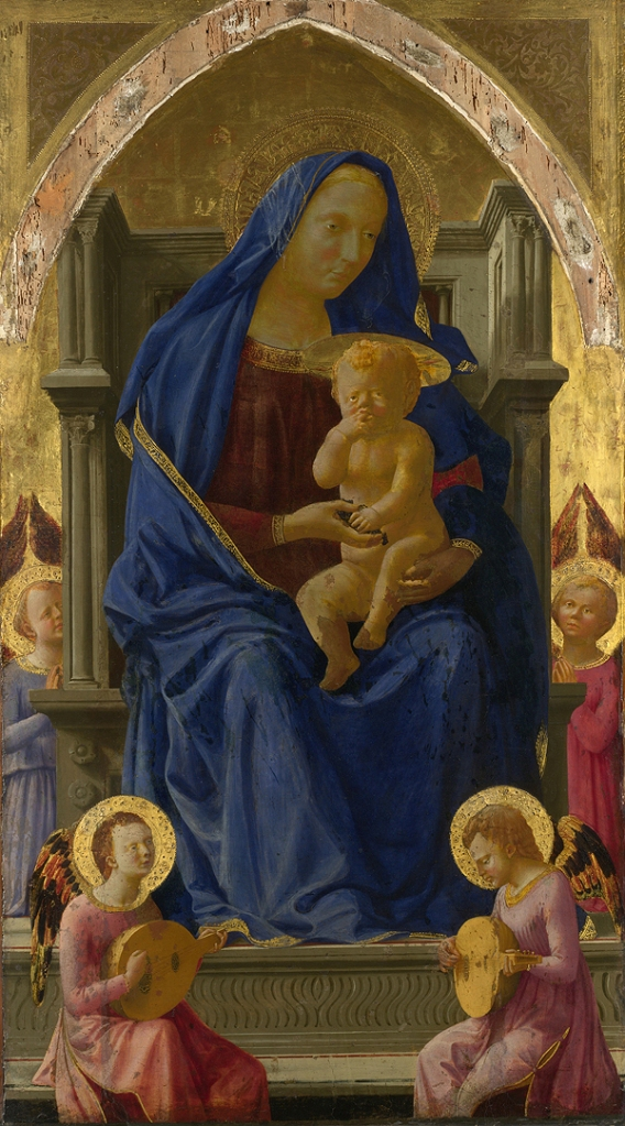 Fig. 13: The Virgin and Child by Masaccio, 1426 (altarpiece for the Church of the Carmine, Pisa)