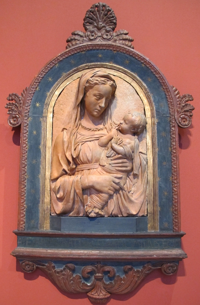 Fig. 17: The Virgin and Child terracotta attributed to Michelozzo, ca. 1435-40 (Bode Museum; Inv. 73)