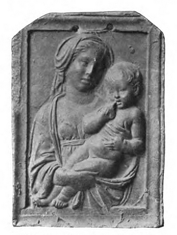 Fig. 18: The Virgin and Child with Two Angels stucco cast attributed to Luca Della Robbia (ex-collection of Stefano Bardini)