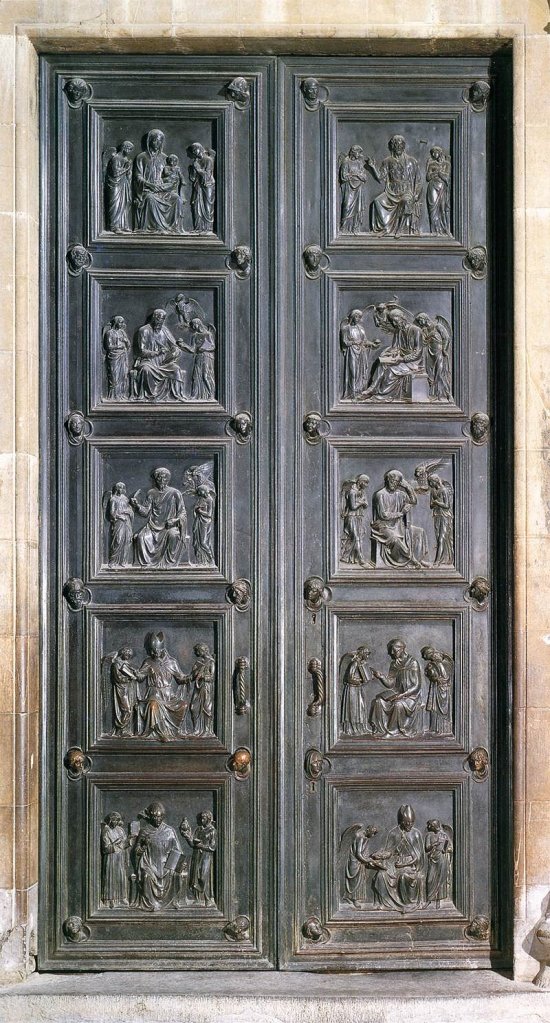 Fig. 19: Bronze doors for the New Sacristy of the Florence Cathedral, 1446-75