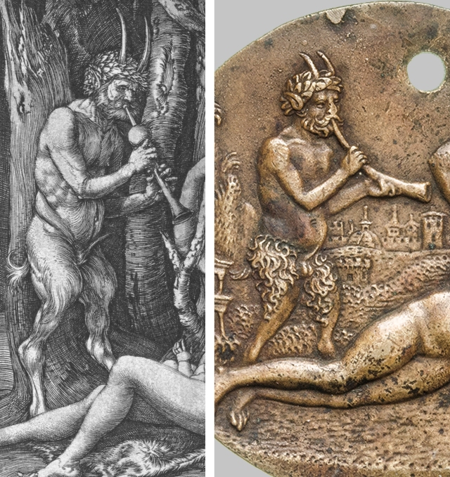 Albrecht Durer _ Satyr Family 1505 _ plakkete Abundance Satyr _ Bologna