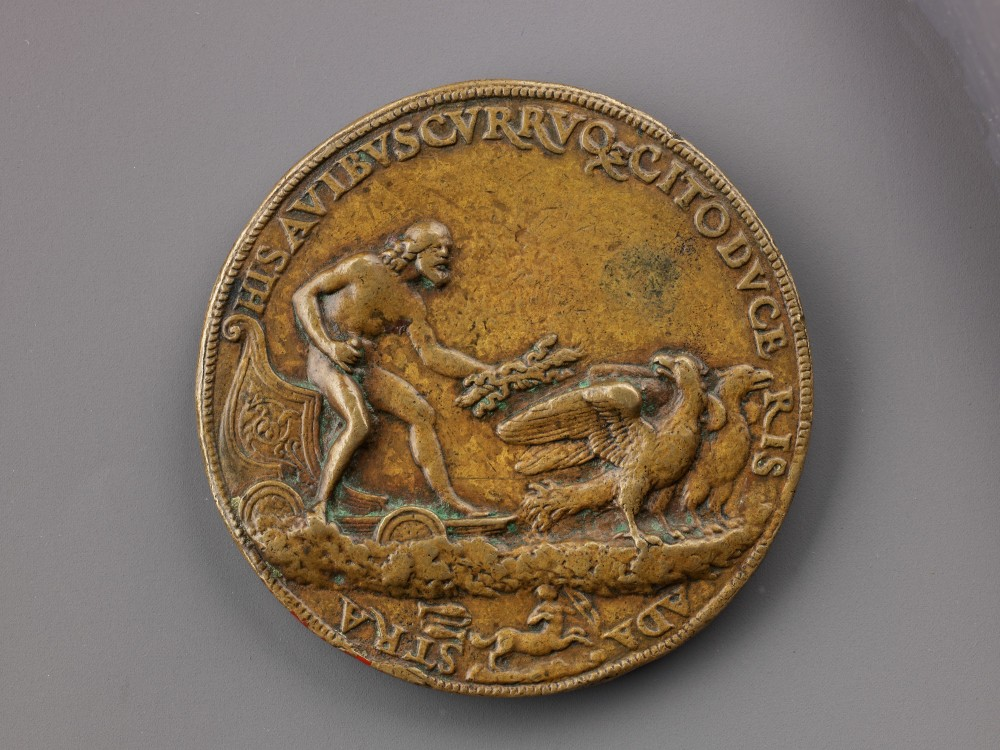 Francesco Francia _ ca 1505-10 _ only accepted medal _ Portrait Cardinal Francesco degli Alidosi and Jupiter and Signs of the Zodiac rev