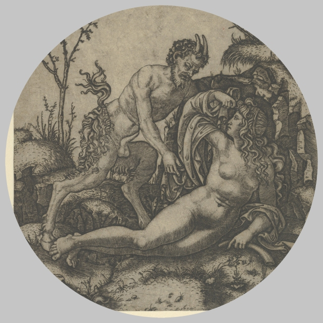 Marc Antonio Raimondi _ Nymph and Satyr _ MET 29-44-2 _ 1506 _ concept