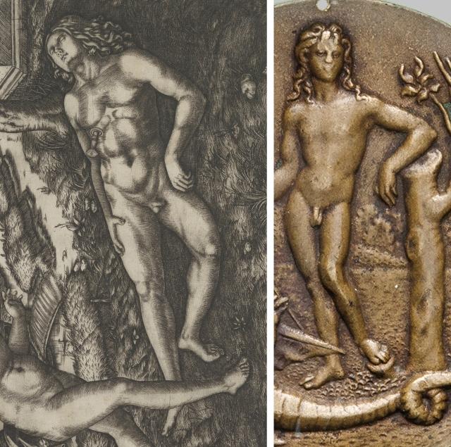 Marc Antonio Raimondi _ Pyramus _ 1505 _ Francia _ Apollo plaquette