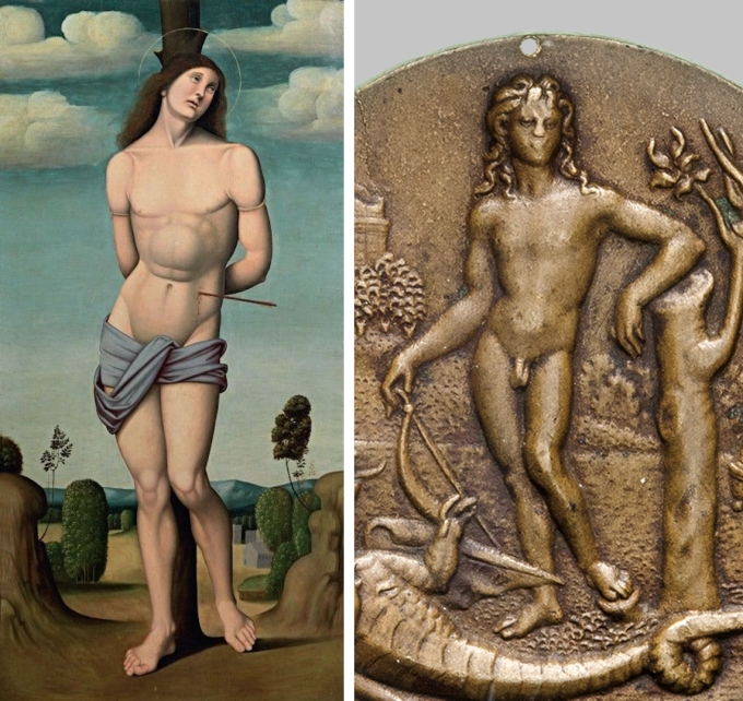 St Sebastian _ Francesco Francia _ ca 1500 _ Madrid _ Placchette Apollo Python