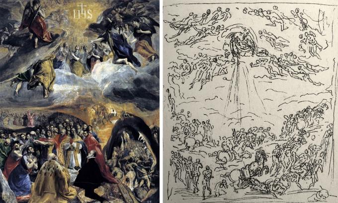 01 El Greco _ Adoration of the Name of Jesus _ 1578-79 _ Roman influence of Guglielmo della Porta