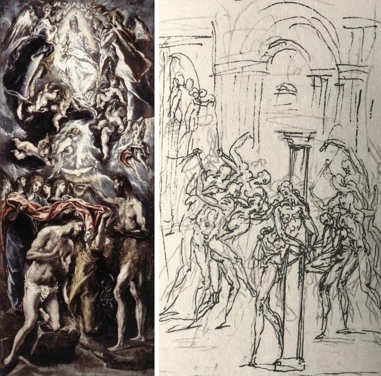 03 Greco _ Baptism of Christ _ Guglielmo della Porta _ Flagellation