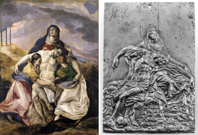 09 El Greco _ Pieta _ Hispanic Society of America _ Jacob Cornelis Cobaert after Guglielmo Della Porta