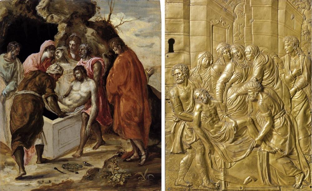 10 El Greco _ Guglielmo della Porta _ Entombment