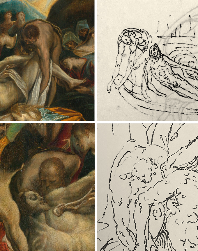 11 El Greco _ Guglielmo della Porta _ Entombment