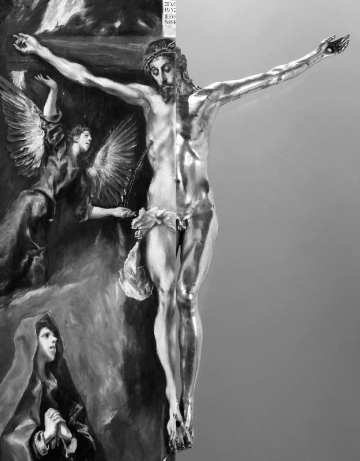 14 El Greco _ Crucifixion _ Prado Museum __ Circle of Sebastiano Torrigiani _ gilt crucifix comparison