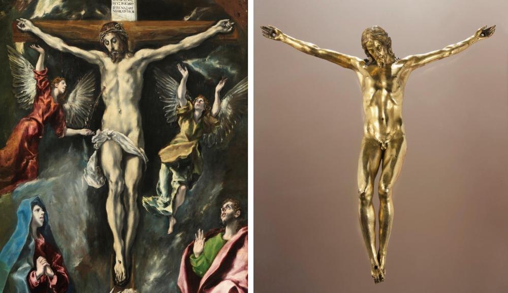 15 El Greco _ Crucifixion _ Prado Museum __ Circle of Sebastiano Torrigiani _ gilt crocofisso