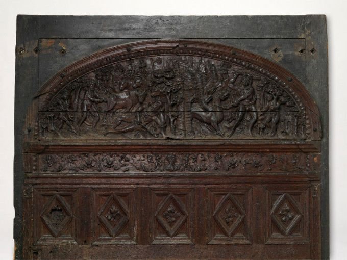Carved wooden door _ Orleans France _ early 16th century _ Victoria and Albert Museum